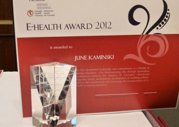 Nursing Faculty E-Health Award 2012